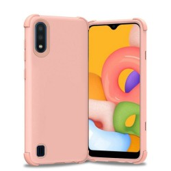 King Dual Layer Tough Hybrid for Galaxy A01 - Rose Gold