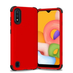 King Dual Layer Tough Hybrid for Galaxy A01 - Red