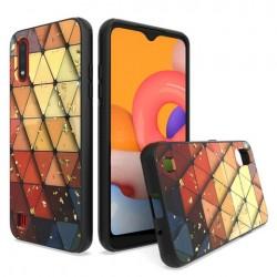 Chrome Glitter Glitter Case for SAMSUNG A01 Design #3