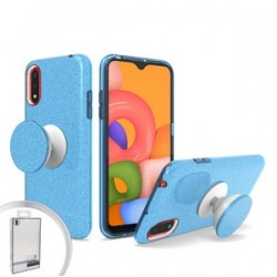 Bling Case with Pop Up for Samsung A01 Blue