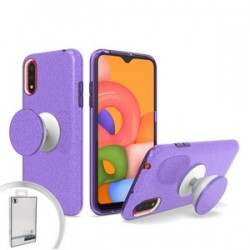 Bling Case with Pop Up for Samsung A01 Purple