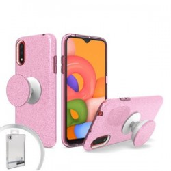 Bling Case with Pop Up for Samsung A01 Pink