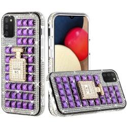 Ornament Bling Diamond Shiny Crystal Case  - Perfume Bottle on Dark Purple