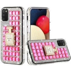 Ornament Bling Diamond Shiny Crystal Case  - Perfume Bottle on Hot Pink