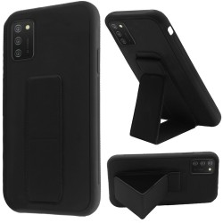 Foldable Magnetic Kickstand Vegan Case Cover - Black