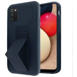 Foldable Magnetic Kickstand Vegan Case Cover - Dark Blue