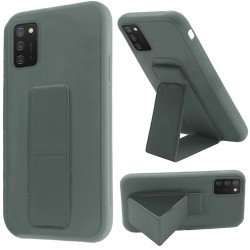 Foldable Magnetic Kickstand Vegan Case Cover - Midnight Green
