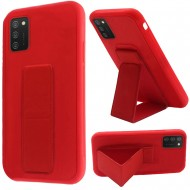 Foldable Magnetic Kickstand Vegan Case Cover - Red