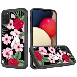 Beautiful Design Leather Feel Tuff Hybrid Case - Charming Flowers