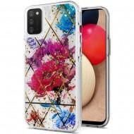 Magnificent Epoxy Glitter Design Hybrid Case Cover - Bouquet Floral