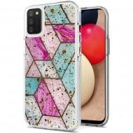 Magnificent Epoxy Glitter Design Hybrid Case Cover - Colorful Marble