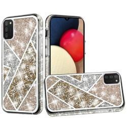 Rhombus Bling Glitter Diamond Case Cover - Gold