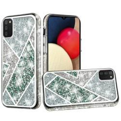Rhombus Bling Glitter Diamond Case Cover - Green