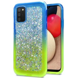 Star Sprinkled Epoxy Case Cover - Blue/Neon Green