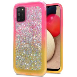 Star Sprinkled Epoxy Case Cover - Pink/Yellow