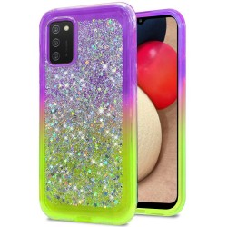 Star Sprinkled Epoxy Case Cover - Purple/Neon Green