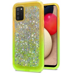 Star Sprinkled Epoxy Case Cover - Yellow/Neon Green