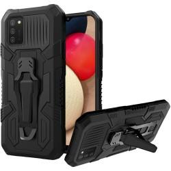 Travel Kickstand Clip Hybrid Case - Black