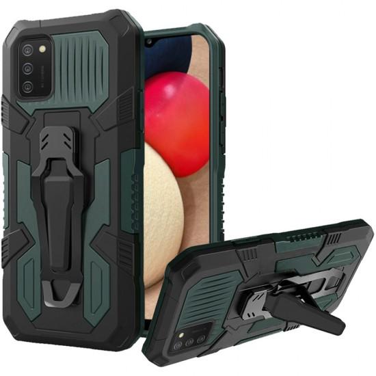 Travel Kickstand Clip Hybrid Case - Midnight Green