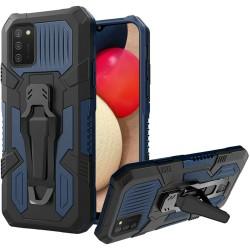 Travel Kickstand Clip Hybrid Case - Navy Blue