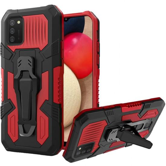 Travel Kickstand Clip Hybrid Case - Red