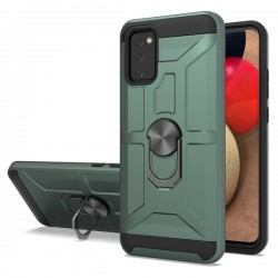 New Matte Design Brush Case with Ring Stands Army Green