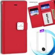 [Infolio] luxurious synthetic PU leather 6 Card Slots Infolio, Red For Samsung A10e