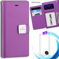 [Infolio] luxurious synthetic PU leather 6 Card Slots Infolio, Violet For Samsung A10e