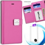 [Infolio] luxurious synthetic PU leather 6 Card Slots Infolio, Magenta For A10e