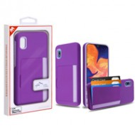 Purple/Light Purple Poket Hybrid Protector Cover (with Back Film)(with Package) For A10e
