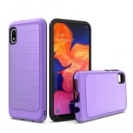 Brushed Metallic Case W/ Edge Purple For Samsung A10e