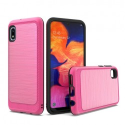 Brushed Metallic Case W/ Edge Hot Pink For Samsung A10e