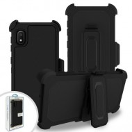 Premium Hybrid Triple Combo Holster, Black For Samsung A10e