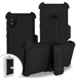 Premium Hybrid Triple Combo Holster, Black For Samsung A10e