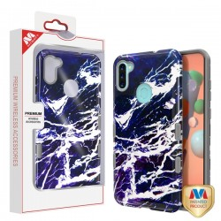 MYBAT TUFF Subs Hybrid Case for Samsung A11 - Najafabad Marble/Iron Gray