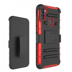 Holster Combo for Samsung A11- Black/Red