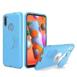 BLING CASE WITH POP UP BLUE - FOR SAMSUNG A11