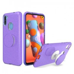 BLING CASE WITH POP UP PURPLE  - FOR SAMSUNG A11