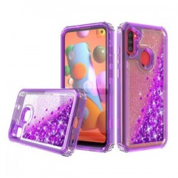 PREMIUM STRONG GLITTER QUICK SAND CASE FOR SAMSUNG A11 - PURPLE