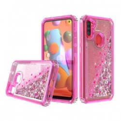 PREMIUM STRONG GLITTER QUICK SAND CASE FOR SAMSUNG A11 - PINK