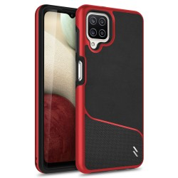 ZIZO DIVISION SERIES GALAXY A12 CASE - BLACK & RED