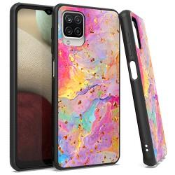 Chrome Flake Marble Case for Samsung Galaxy A12 - Rainbow