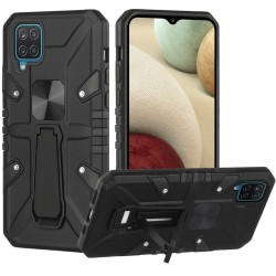 Force Magnetic Tough Kickstand Hybrid Case for Samsung Galaxy A12 - Black