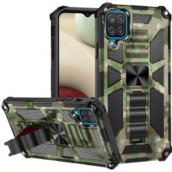 Machine Design Magnetic Kickstand Case for Samsung Galaxy A12 - Camo Green