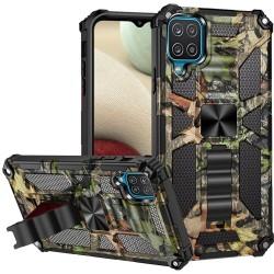 Machine Design Magnetic Kickstand Case for Samsung Galaxy A12 - Camo Jungle