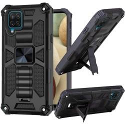 Machine Magnetic Kickstand Case for Samsung Galaxy A12 - Black