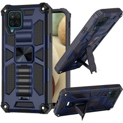 Machine Magnetic Kickstand Case for Samsung Galaxy A12 - Blue