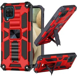 Machine Magnetic Kickstand Case for Samsung Galaxy A12 - Red