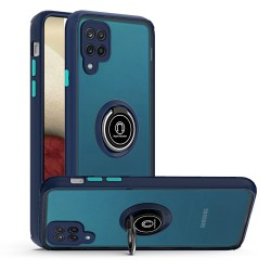 Magnetic Ring Stand Case for Samsung Galaxy A12 - Dark Blue