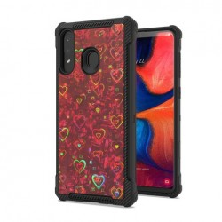 Premium Reflection Design Case Red For Samsung A20